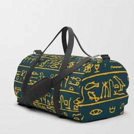 Egyptian hieroglyphs Duffle Bag