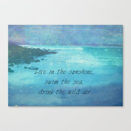 Sunshine quote sea Emerson inspirational Canvas Print
