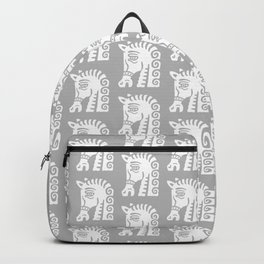 Mid Century Horse Pattern Grey Backpack