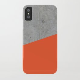 Concrete and flame color iPhone Case