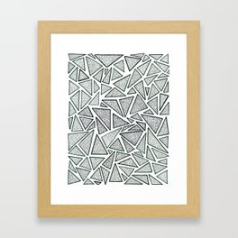 triangles (deux) Framed Art Print