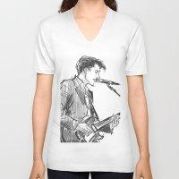 alex turner V-neck T-shirts featuring alex turner [4] by roanne Q