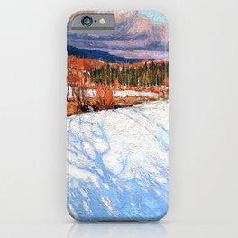 12,000pixel-500dpi - Tom Thomson - In Algonquin Park - Digital Remastered Edition iPhone Case