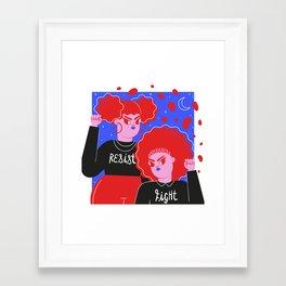 Resist & Fight Framed Art Print