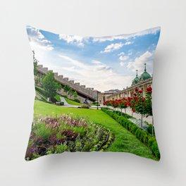 Royal Palace Garden Throw Pillow