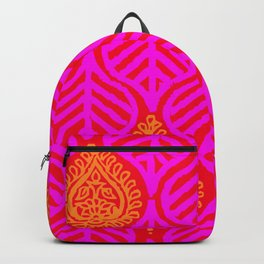 PLANTAIN PALACE - RED/PINK/ORANGE Backpack
