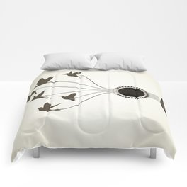 Bird a guitar Comforters