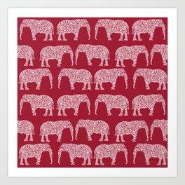 Alabama bama crimson tide elephant state college university pattern footabll Art Print