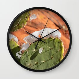 Snow-Capped Cacti - 0717 Wall Clock
