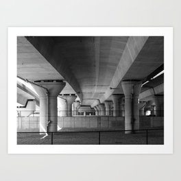 Highway Underpass Art Print