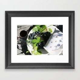 Red wine for two Framed Art Print