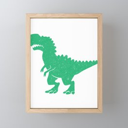 T-Rex Hates Burpees Funny Fitness Workout Framed Mini Art Print