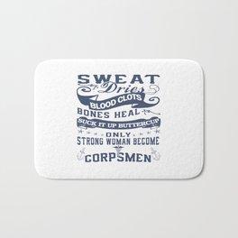 Corpsman Woman Bath Mat