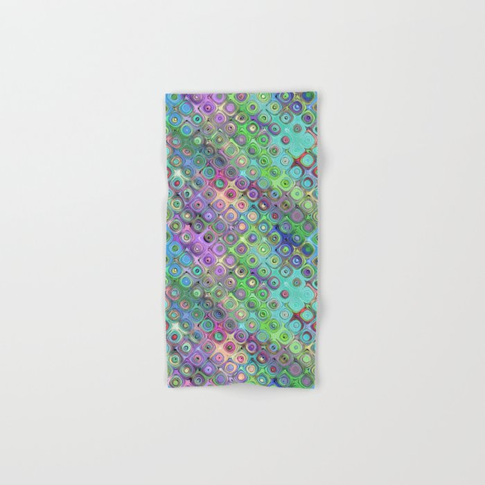 Abstract Pattern of Colorful Shapes  Hand & Bath Towel