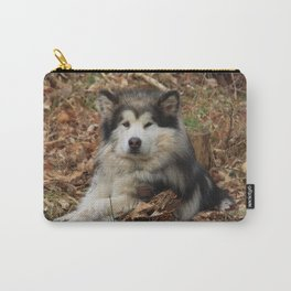 laying Doug Carry-All Pouch
