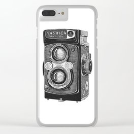 Yashica Vintage Camera Clear iPhone Case