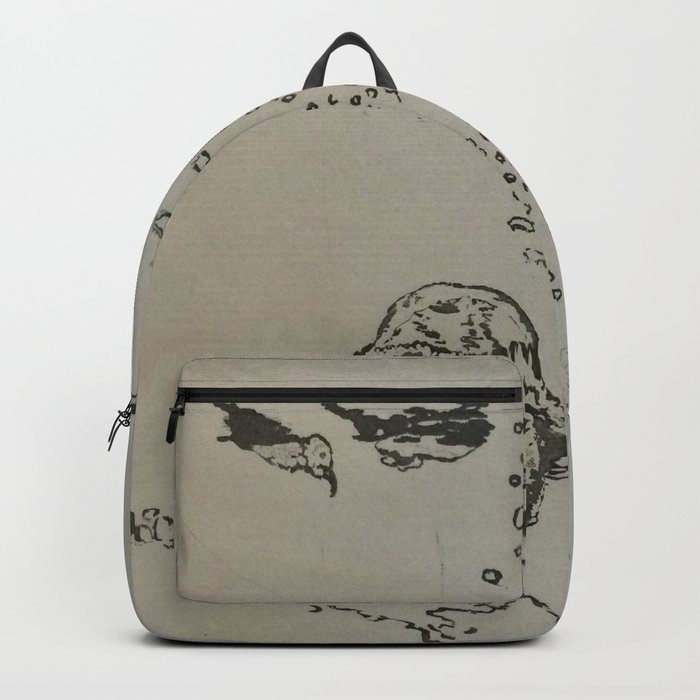Under The Sea Green Black and White Backpack