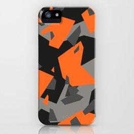 Black\Grey\Orange Geometric camo iPhone Case