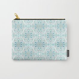 curls and flowers-hand painted design-3D effect-floral-pastoral-romantic-vintage Carry-All Pouch