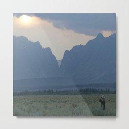 To the Mountains Metal Print