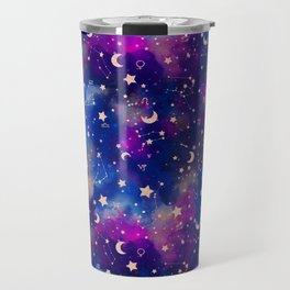 Zodiac - Watercolor Dark Travel Mug