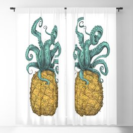 Octopus Pineapple Blackout Curtain