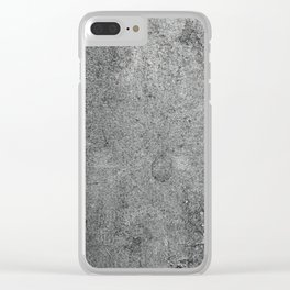 Old Leather Book Cover Lichen Clear iPhone Case