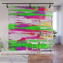 Neon Summer Abstract Wall Mural
