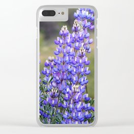 Wild Lupines Clear iPhone Case