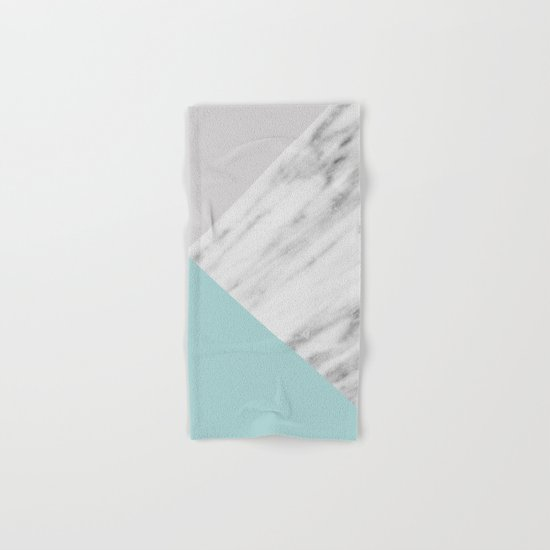Ice Color Marble Collage Hand & Bath Towel