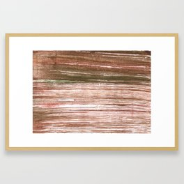 Light taupe abstract watercolor background Framed Art Print