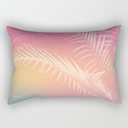 Gradient Tropical leaves Rectangular Pillow