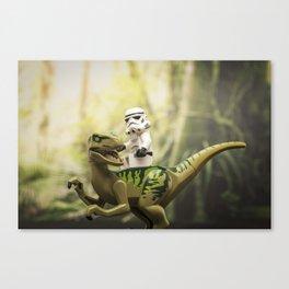 Ride the Raptor - LEGO Canvas Print