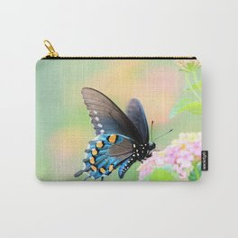 Spicebush Swallowtail Butterfly on Lantana Carry-All Pouch