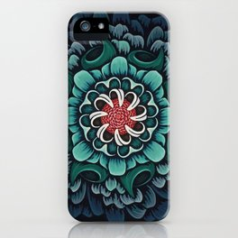 Abstract Floral Mandala iPhone Case