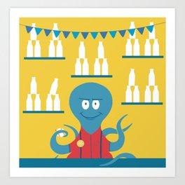 Octopus Carnie Art Print