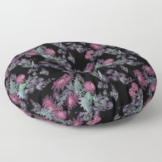 Watercolor floral pattern . 13 Floor Pillow