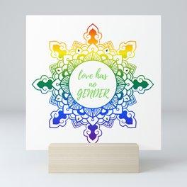 Gey LGBT Pride Mandala Mini Art Print