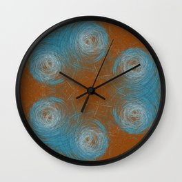 Turquoise nests Wall Clock