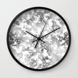 scrubbed silver marble Wall Clock