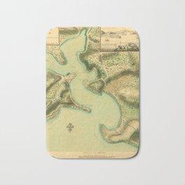 Map Of Antigua 1752 Bath Mat