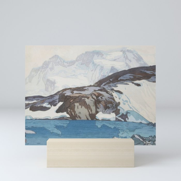 Hiroshi Yoshida - Breithorn - Japanese Vintage Ukiyo-e Woodblock Painting Mini Art Print