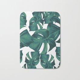 Monstera Leaves Pattern #3 #tropical #decor #art #society6 Bath Mat
