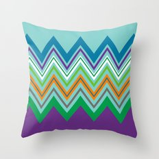 Beach Party Chevron Throw Pillow
