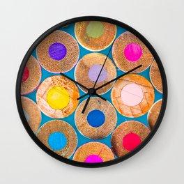 COLORED PENCILS 2 Wall Clock
