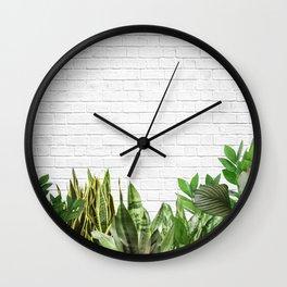 Plants Life Wall Clock