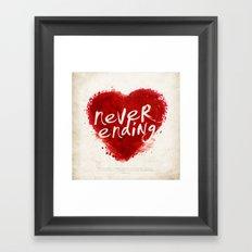 never ending love Framed Art Print