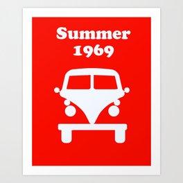 Summer 1969 - red Art Print