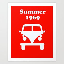 Summer 1969 - red Art Print