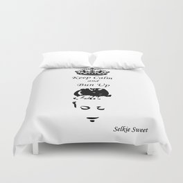 Keep Calm - Get Your Bun Up Duvet Cover